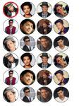 24 x Bruno Mars Edible Wafer Cup cake Top Toppers